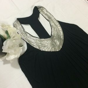 Lola B. Sequins T back embellish sleeveless top